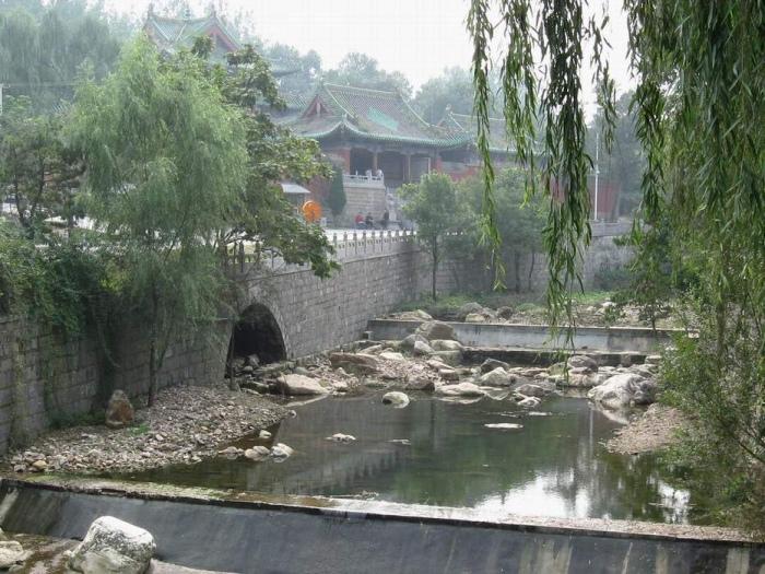 Река около монастыря Шаолинь